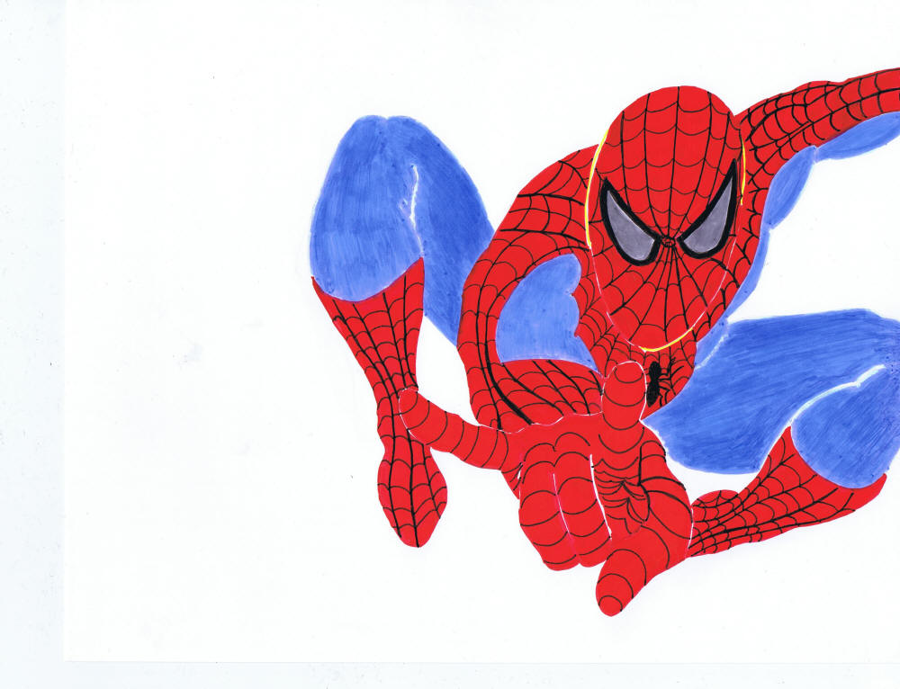 Cartoon Hero Drawing Spiderman Cartoon Drawing