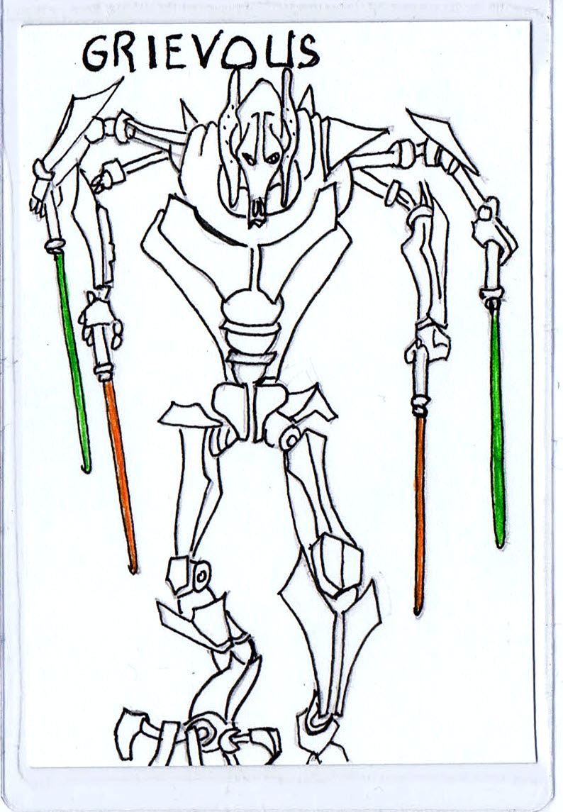 This is the page for General grievous coloring page